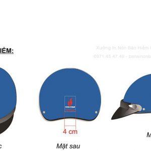 Mũ bảo hiểm quảng cáo công ty Petro Việt Nam