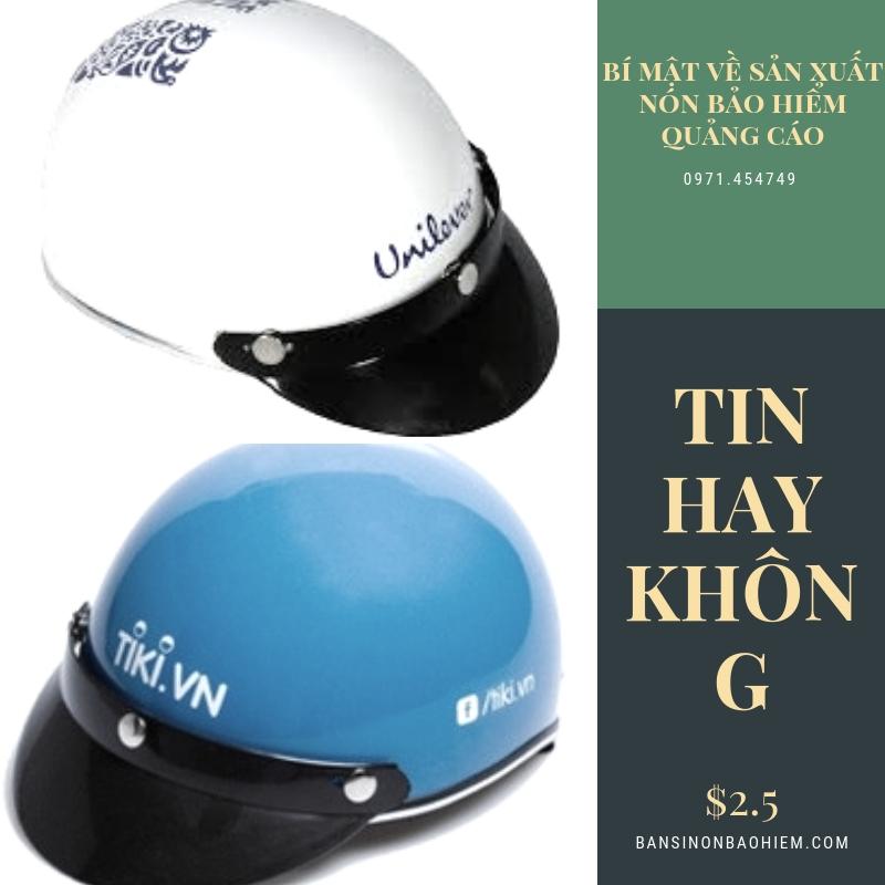 sản xuất nón bảo hiểm quảng cáo