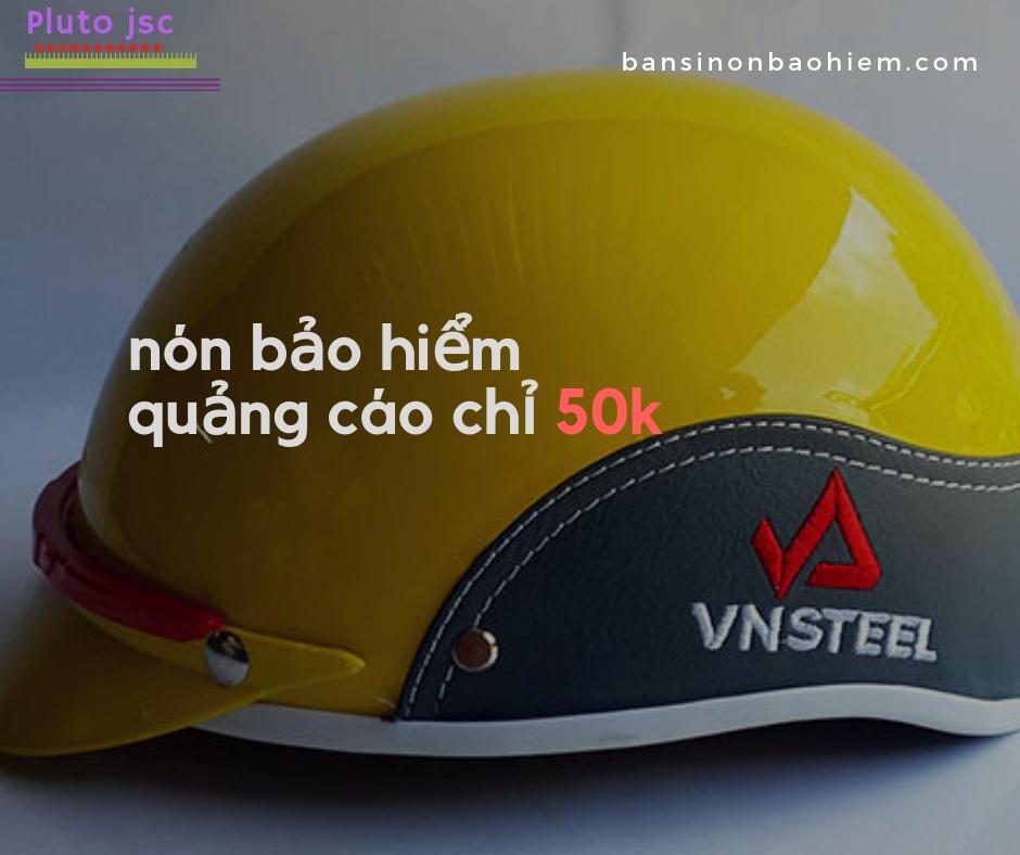 bảng báo giá nón bảo hiểm quảng cáo