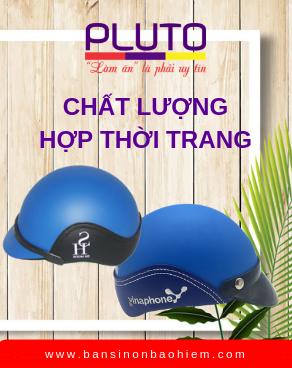 Banner Mũ bảo hiểm quảng cáo - Pluto