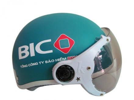 Mũ bảo hiểm quảng cáo có kính ngân hàng BIDV
