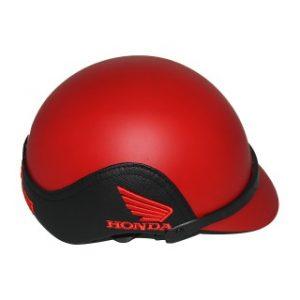 Mũ bảo hiểm quảng cáo nữa đầu ốp da Honda đỏ