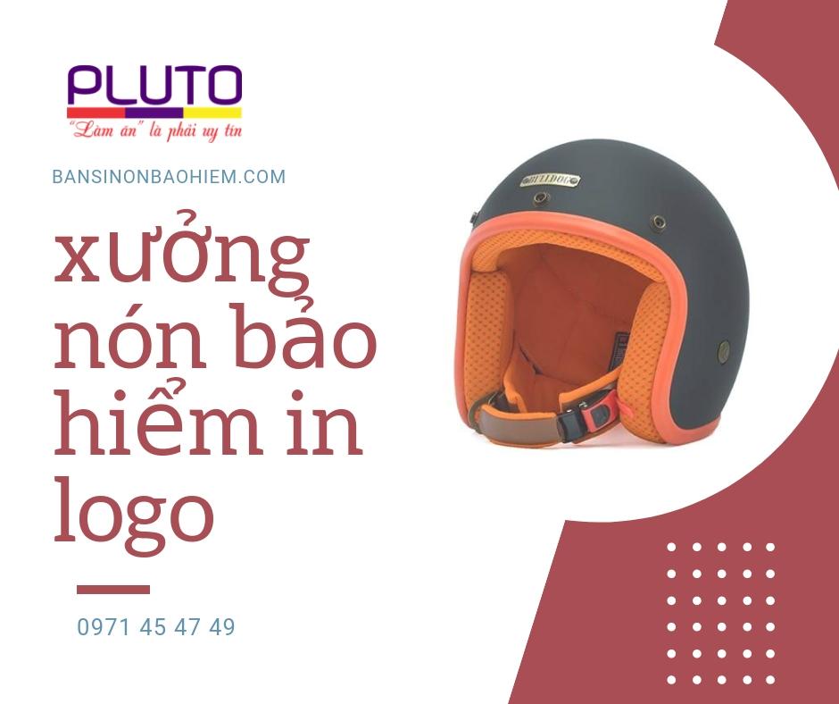 xưởng nón bảo hiểm in logo