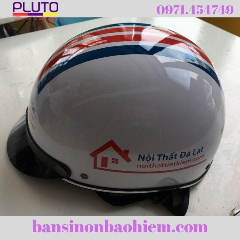 nón bảo hiểm in logo cho nghành nội ngoại thất