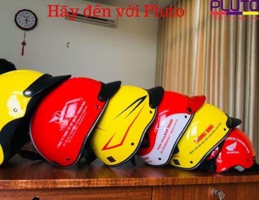 Nón bảo hiểm in logo Pluto
