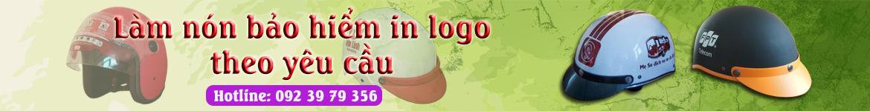 Mũ bảo hiểm in logo theo yêu cầu