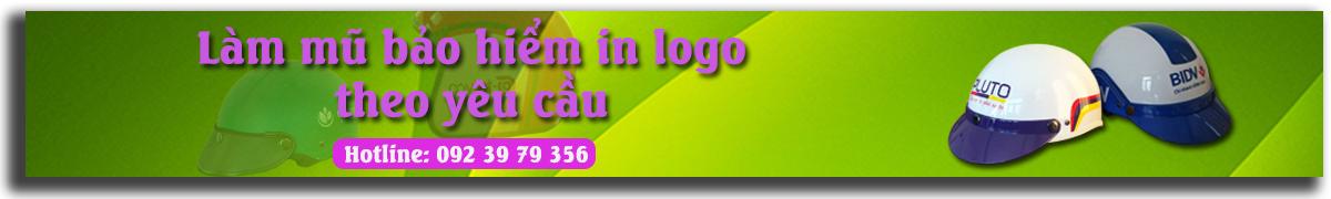 Làm mũ bảo hiểm quảng cáo in logo theo yêu cầu