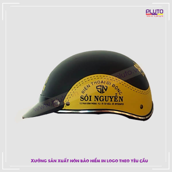 Làm nón bảo hiểm in logo theo yêu cầu ở đâu